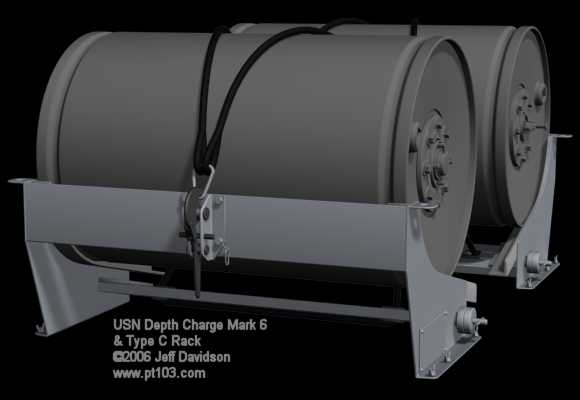 Depth Charge Mark 6 and Type C Release Track