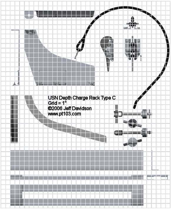 Depth Charge Mark 6 Type C Track Dimensions